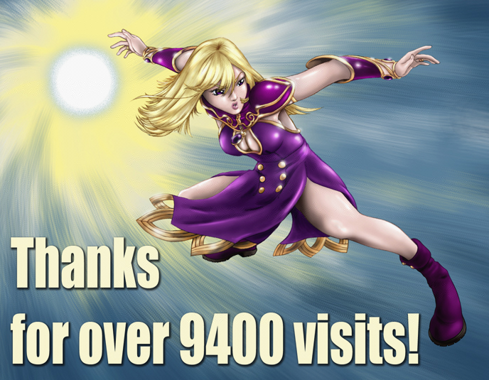 Thanks For Over 9400 Visits by GrendelRoach