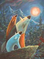Three Moonies by katzai