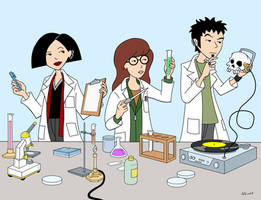 Daria in the Lab by RobotGorilla