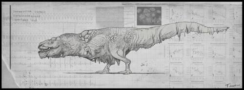 Dermatotum Tyrannosaurus by T-Domesticus