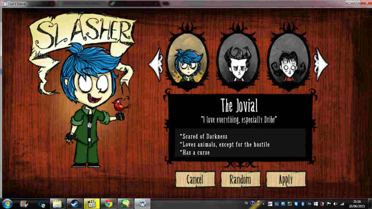 le dont starve mod WIP by Mr-Evilness