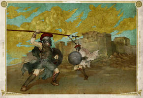 Achilles VS Hector by hmichaelcho