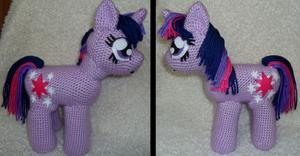 Crochet pony from
