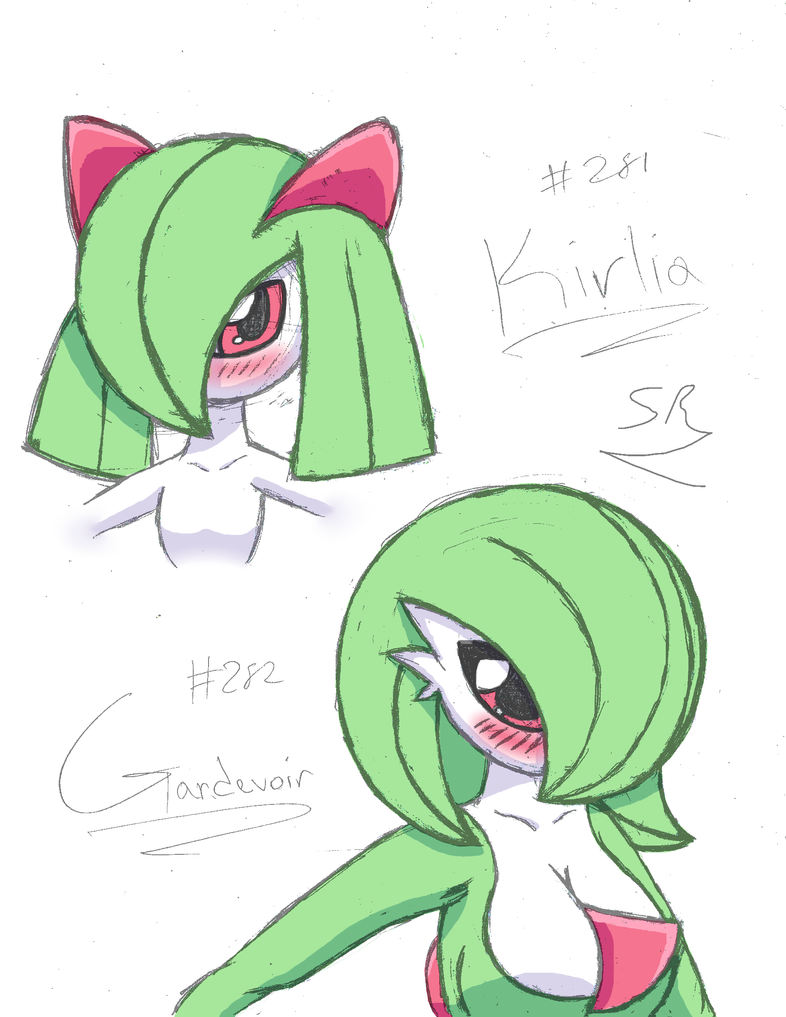 .:Sketch:. Kirlia and Gardevoir by SuperSegaSonicSS on ...