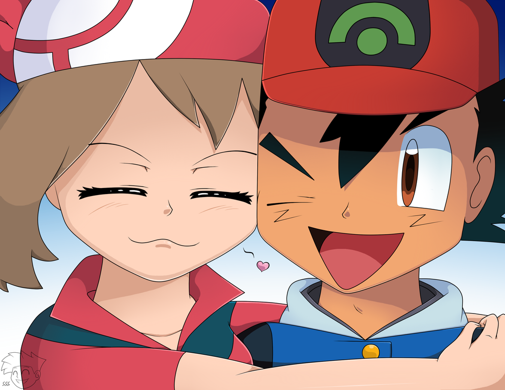 Displaying 20 gt images for pokemon may and drew kiss