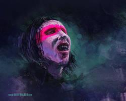 Marilyn Manson sketch VIDEO by egilpaulsen
