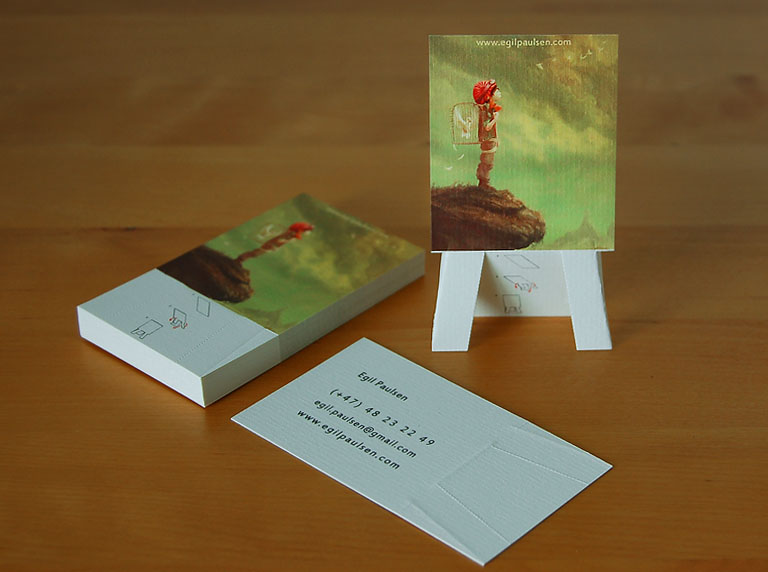 Easel business card