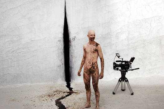 Black Milk on the set