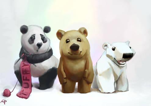 Bear characters by egilpaulsen