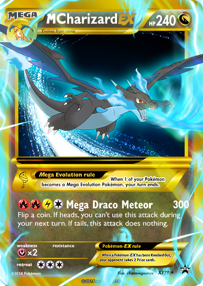 Pokemon charizard x card