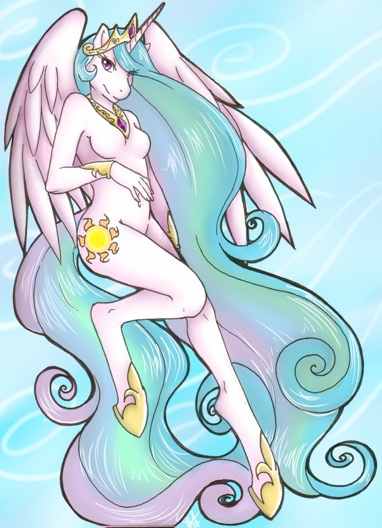 MLP- Celestia by HoneyAppleNinja