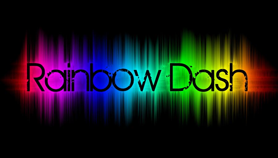 Rainbow Text Wallpaper By Demondave999
