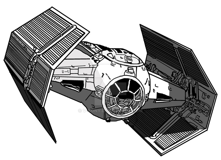 Imperial Tie Fighter Drawing Darth Vader s Tie Fighter by
