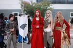 Arya, Melisandre, Daenerys and Cersei by V-kony