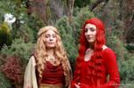 Cersei and Melisandre by V-kony