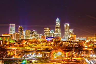 city of gold (charlotte nc) by digidreamgrafix