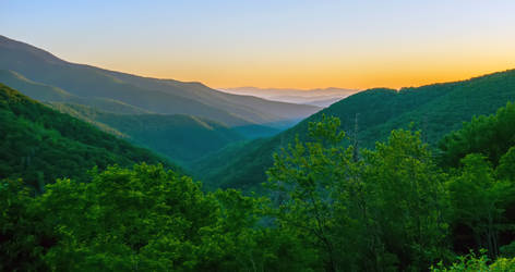 morning on blue ridge mountains by digidreamgrafix