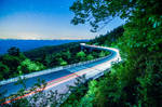 linn cove viaduct at night in north carolina usa