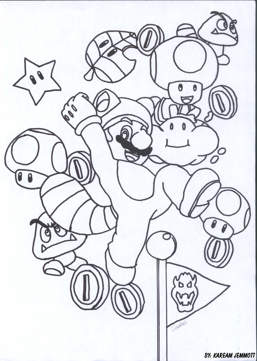 Super Mario 3d Land By Kstarboy On Deviantart Mario 3d Land Coloring Pages