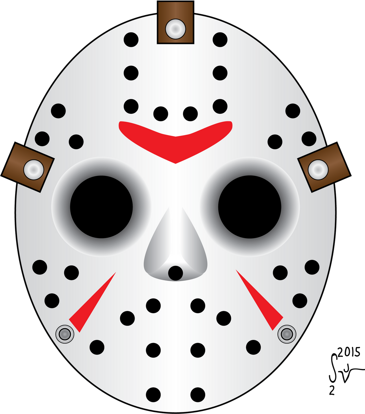 Friday the 13th, Jason Hockey Mask by sjvernon on DeviantArt