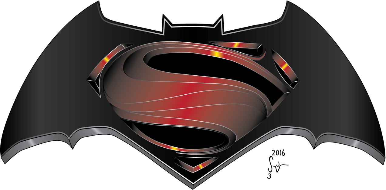 Batman V Superman Dawn Of Justice Logo By Sjvernon