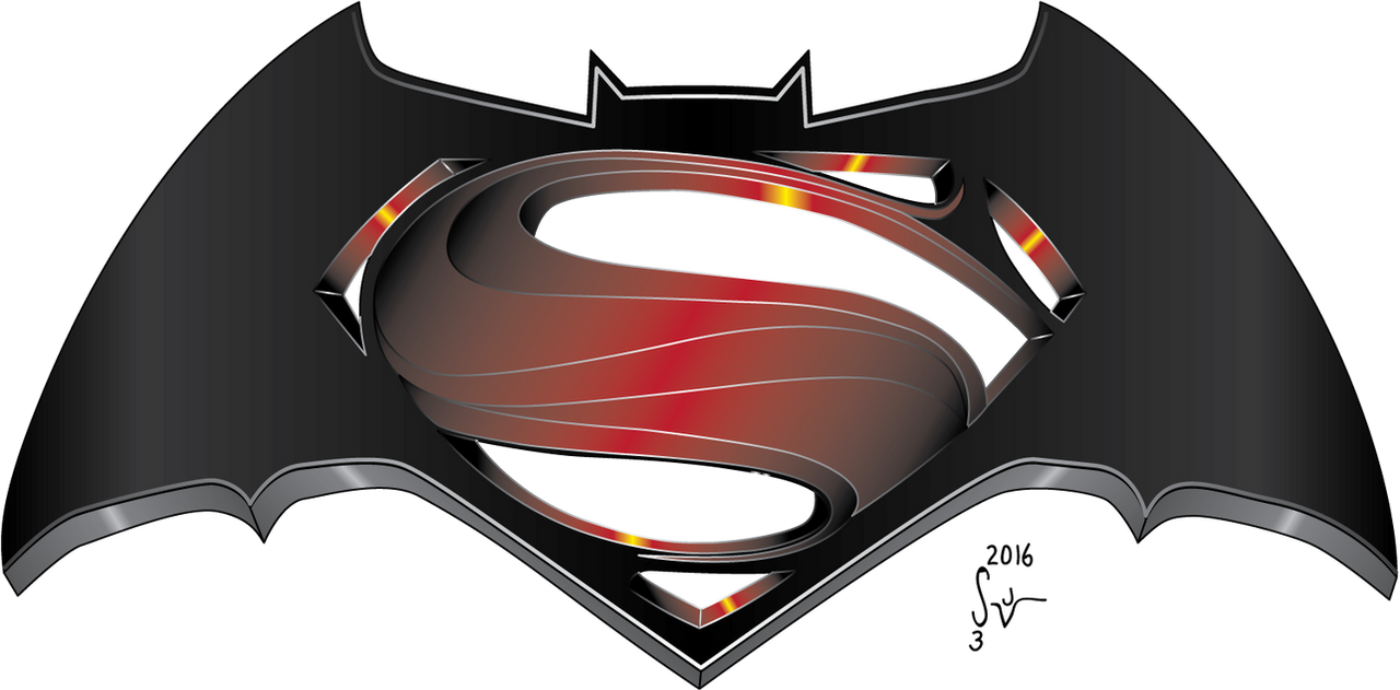 Batman v Superman Logo Revisited by sjvernon on DeviantArt Batman Vs Superman Movie Logo