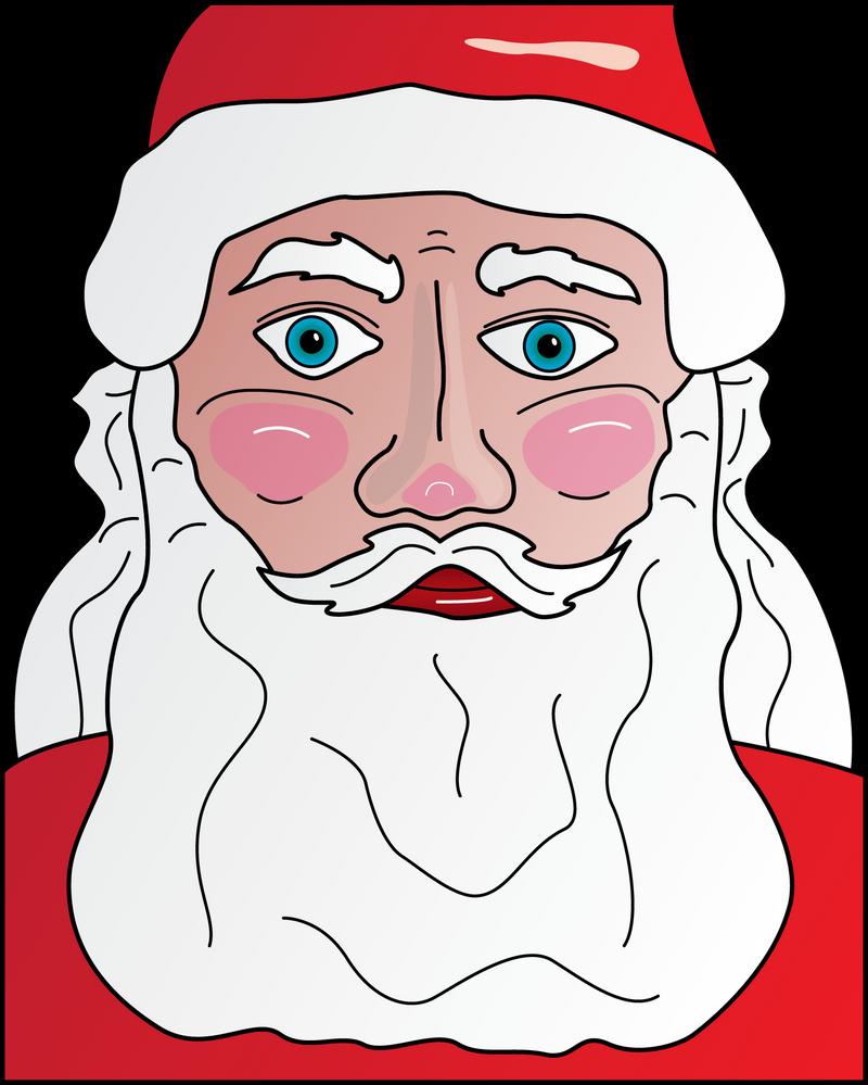 Santa Closeup Revisited by sjvernon