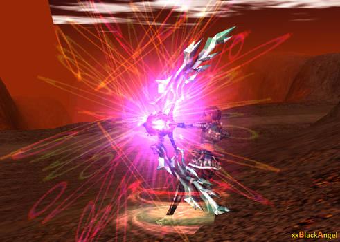 .. Firing Ninja  and her magical bow ..