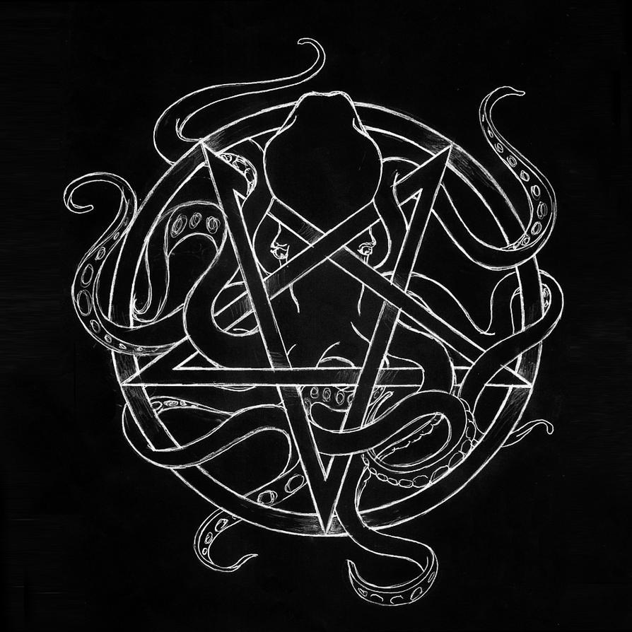 Cuthulu Pentagram by WukashGrochocki