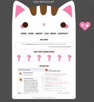 Miu Kitty Website Mockup by adorablykawaii