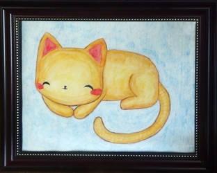Sleepy Kitteh Watercolor Pencils by adorablykawaii