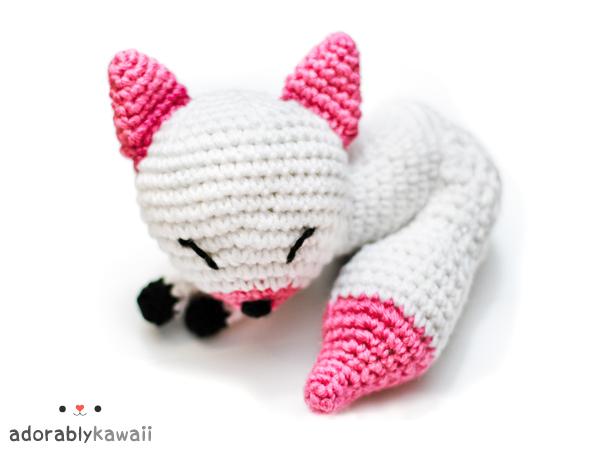 pink and white fox amigurumi by adorablykawaii on DeviantArt