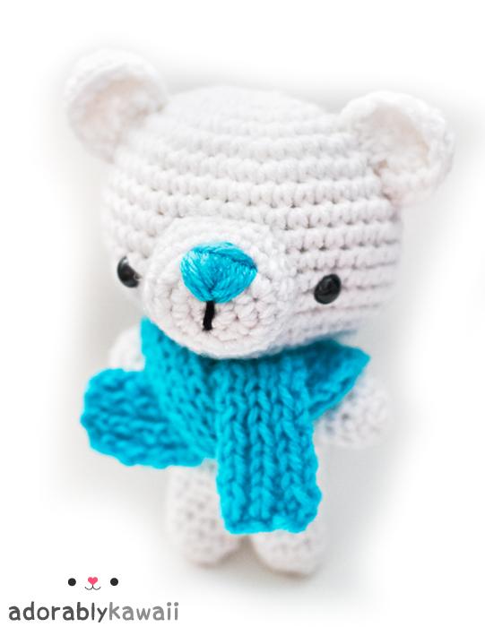 polar bear amigurumi by adorablykawaii