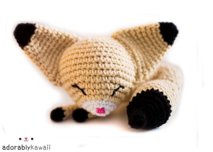 sleepy fennec fox amigurumi by adorablykawaii on DeviantArt