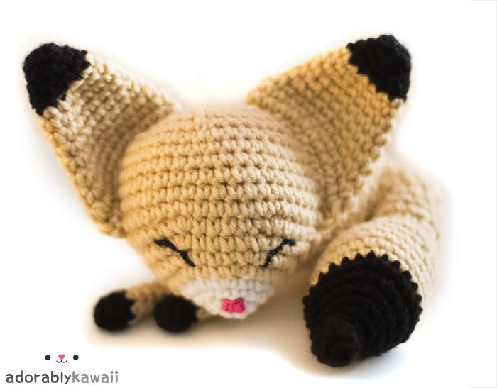 sleepy fennec fox amigurumi 2 by adorablykawaii on DeviantArt