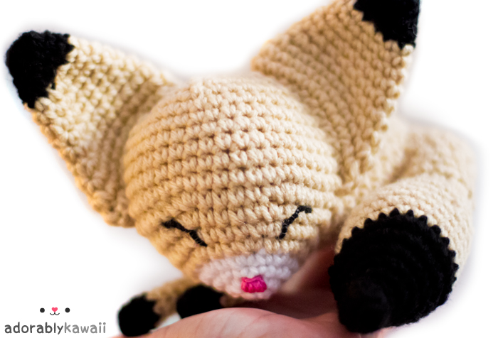 sleepy fennec fox amigurumi 3 by adorablykawaii on DeviantArt