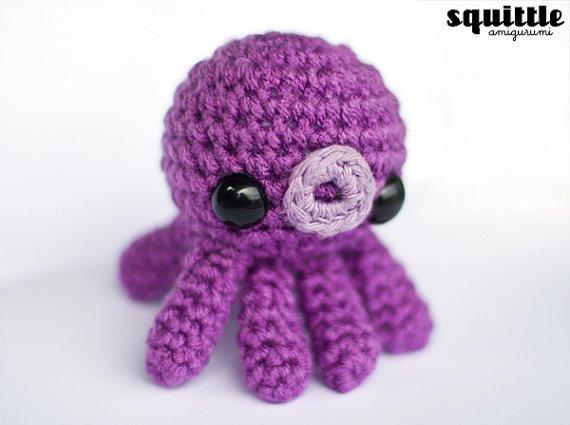 Crochet Baby Octopus PDF Pattern Tiny Octopus Yarn Toy | Etsy | 425x570