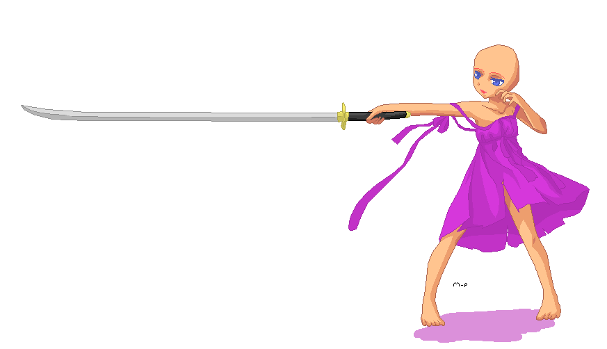 Anime base with sword