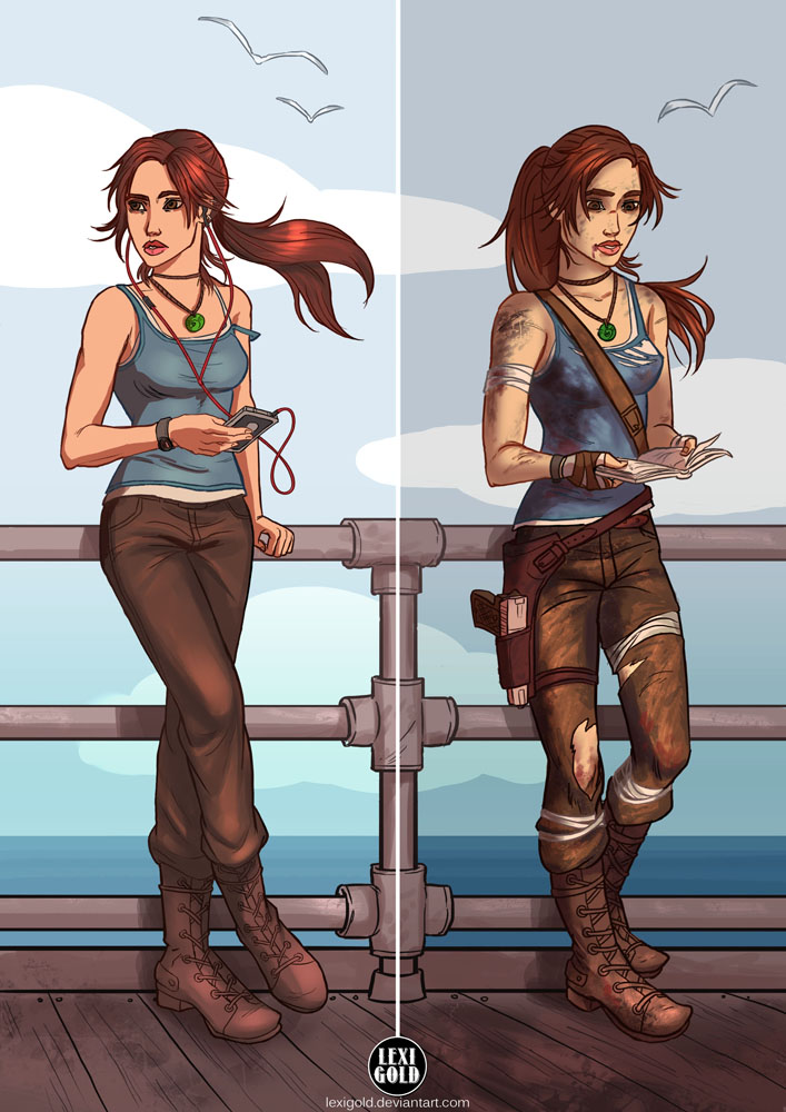 Lara Before and After by LexiGold