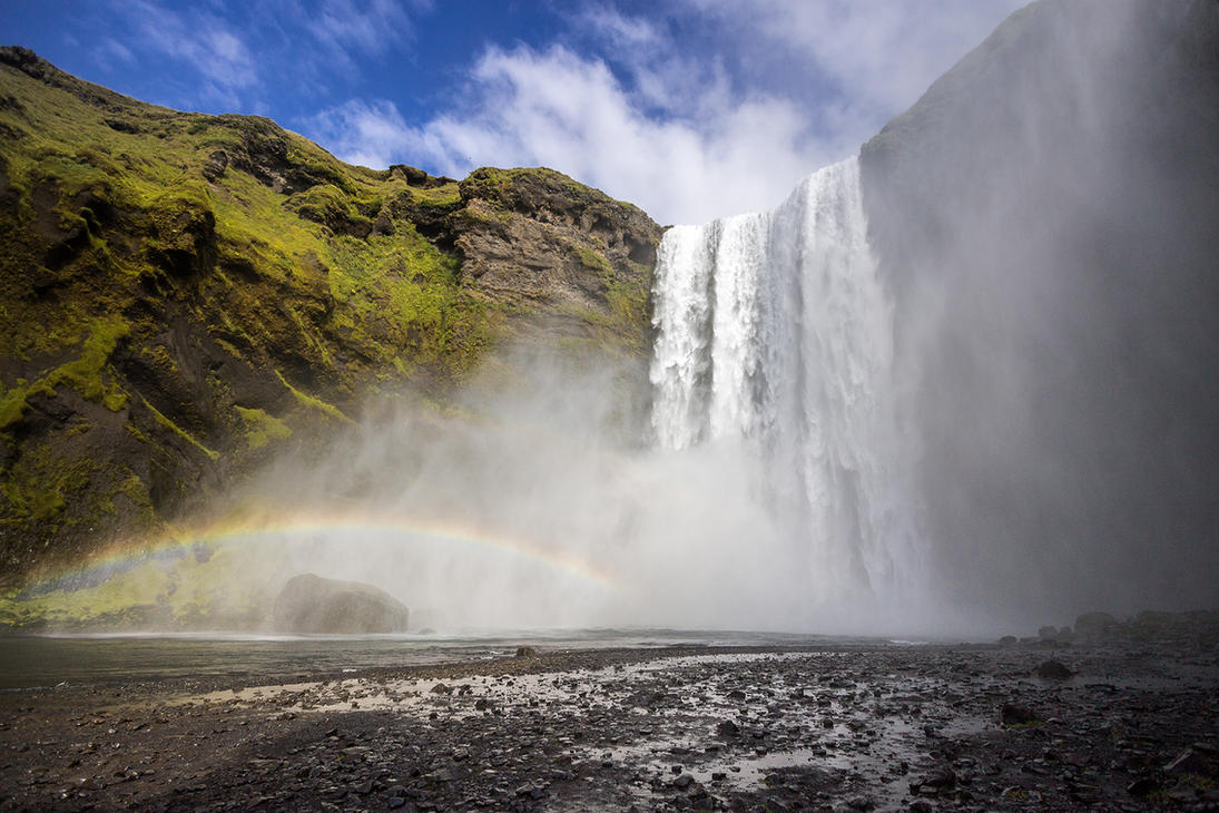 Rainbow waterfall by StonyStoneIsStoned2