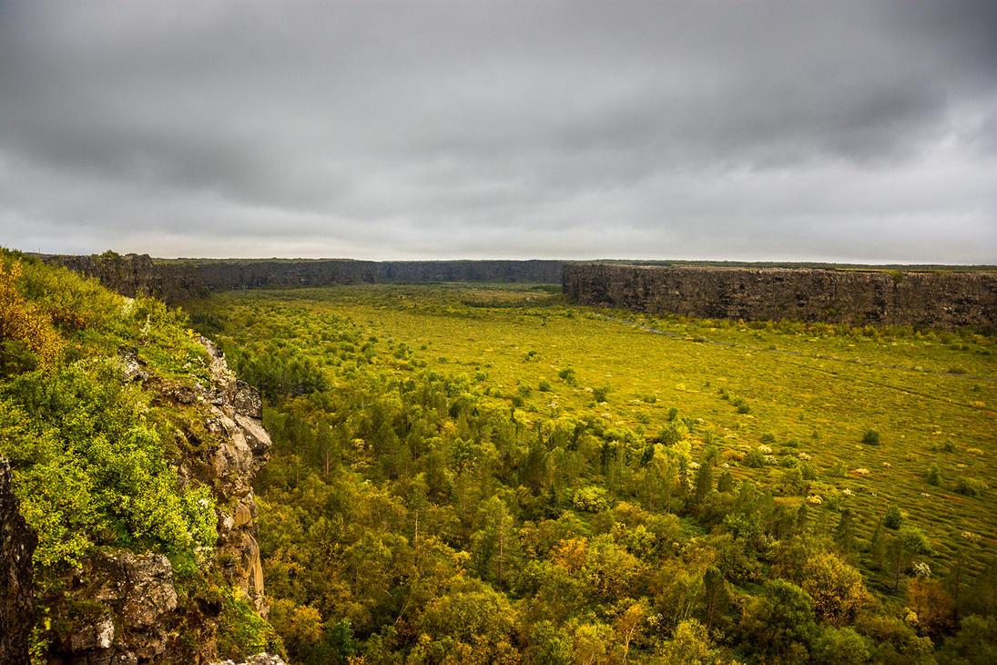 Asbyrgi canyon by StonyStoneIsStoned2