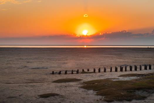 Sunset at the North Sea