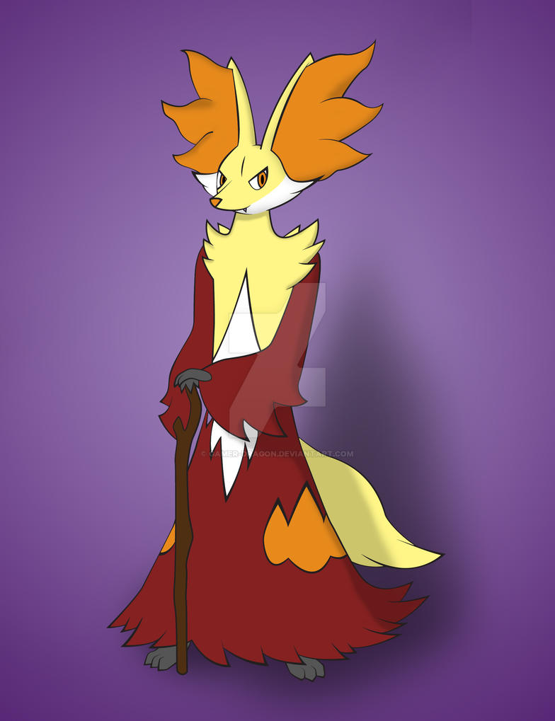 Felix's Delphox by gamer-dragon