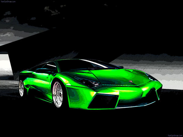 Green Lamborghini Reventon By Mo5tyle On Deviantart