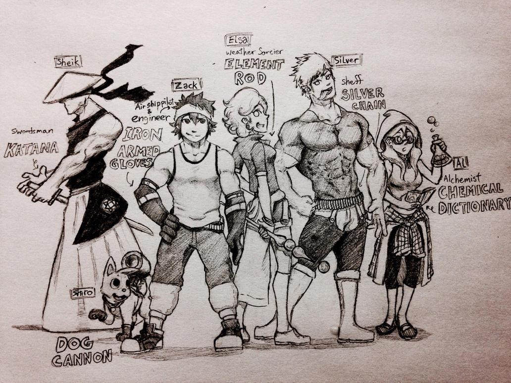 Meet the Gang by tera114
