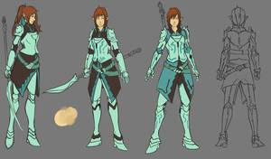 Fantasy Mage-Warrior sketches II
