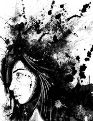 Ink blot portrait