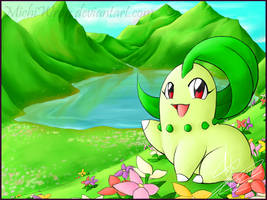 [Commissioned] Chloe the Chikorita by Orion-the-Absol