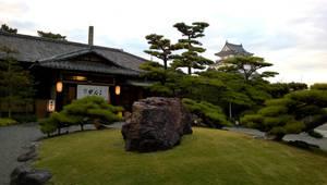 Kishiwada Castle from the Ganko Sushi Garden