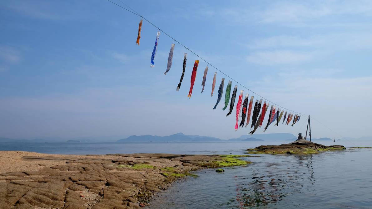Koinobori and the sea by Fukuchan-Ryoko